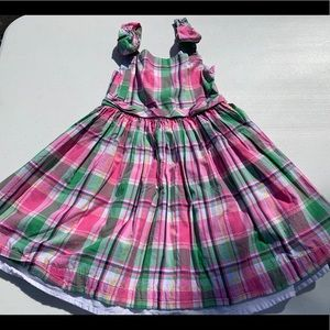 Janie and Jack, pink and green plaid dress